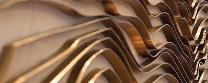 brass wall scupture